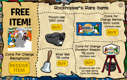 Rockhopper Rare Items for December 2009