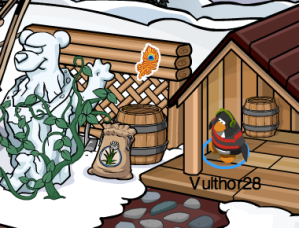 Club Penguin Gold Feather Pin Mine